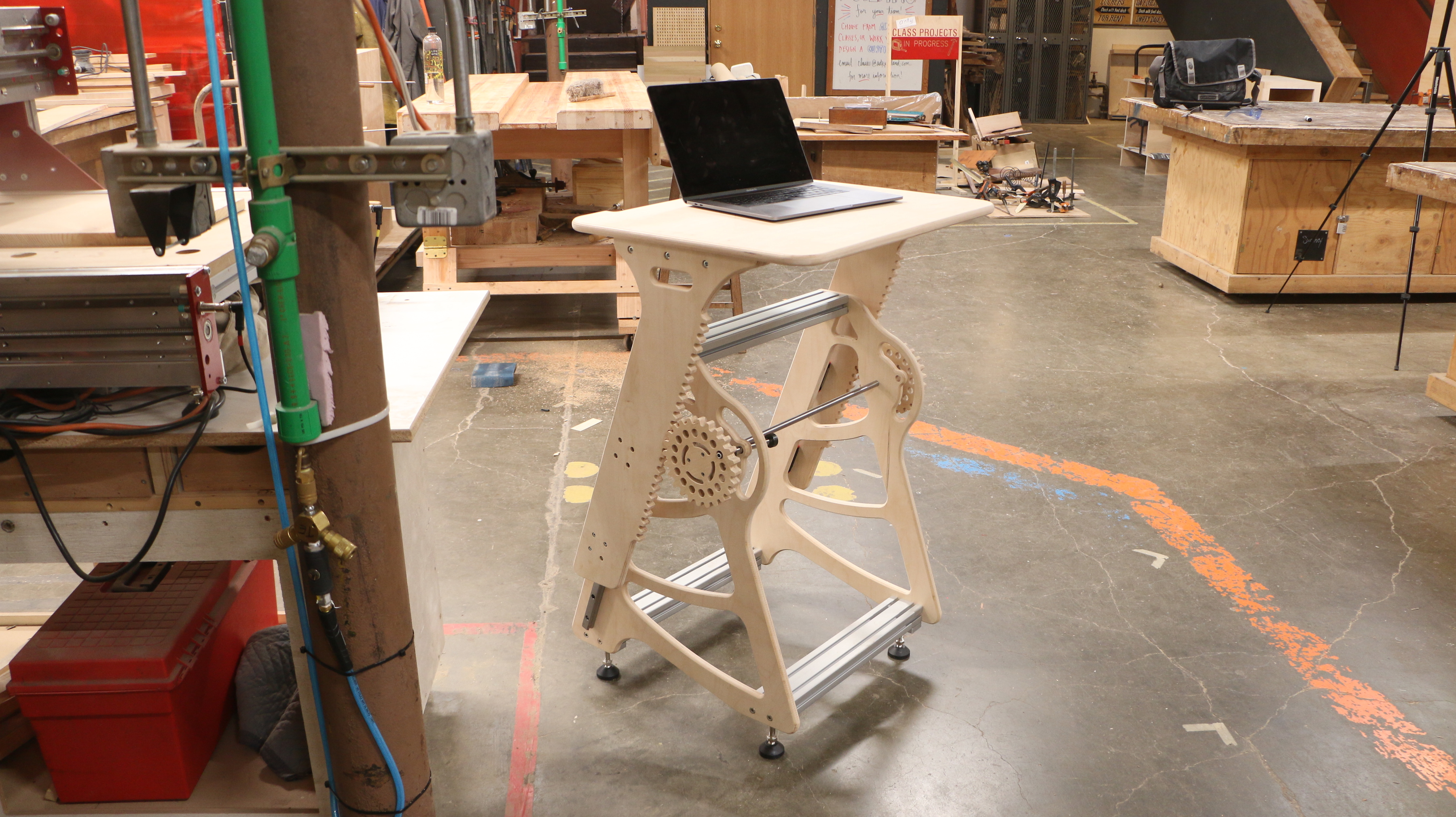 CNC Router Parts Standing Desk