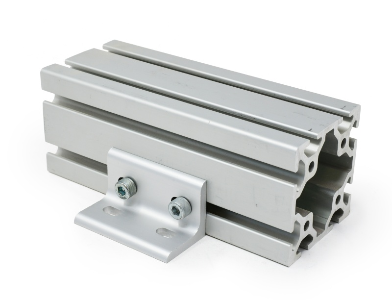 Angle Bracket for 40mm Metric Extrusion (shown on 8080 extrusion)