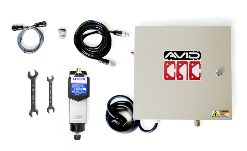 4 HP CNC Spindle and VFD Plug and Play System from Avid CNC