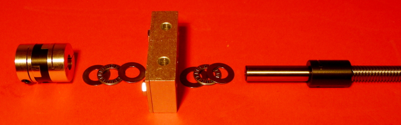 "5 Start Acme Lead Screw with 1/2"" Bearing Block and Acme Shaft Adapter"