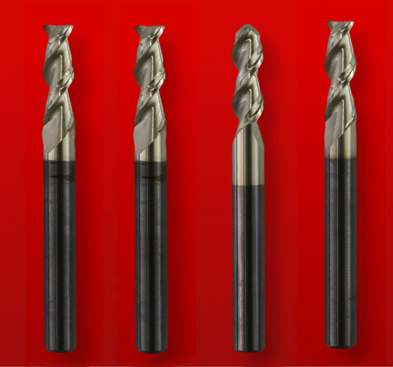 CNC Aluminum cutting End Mill Set