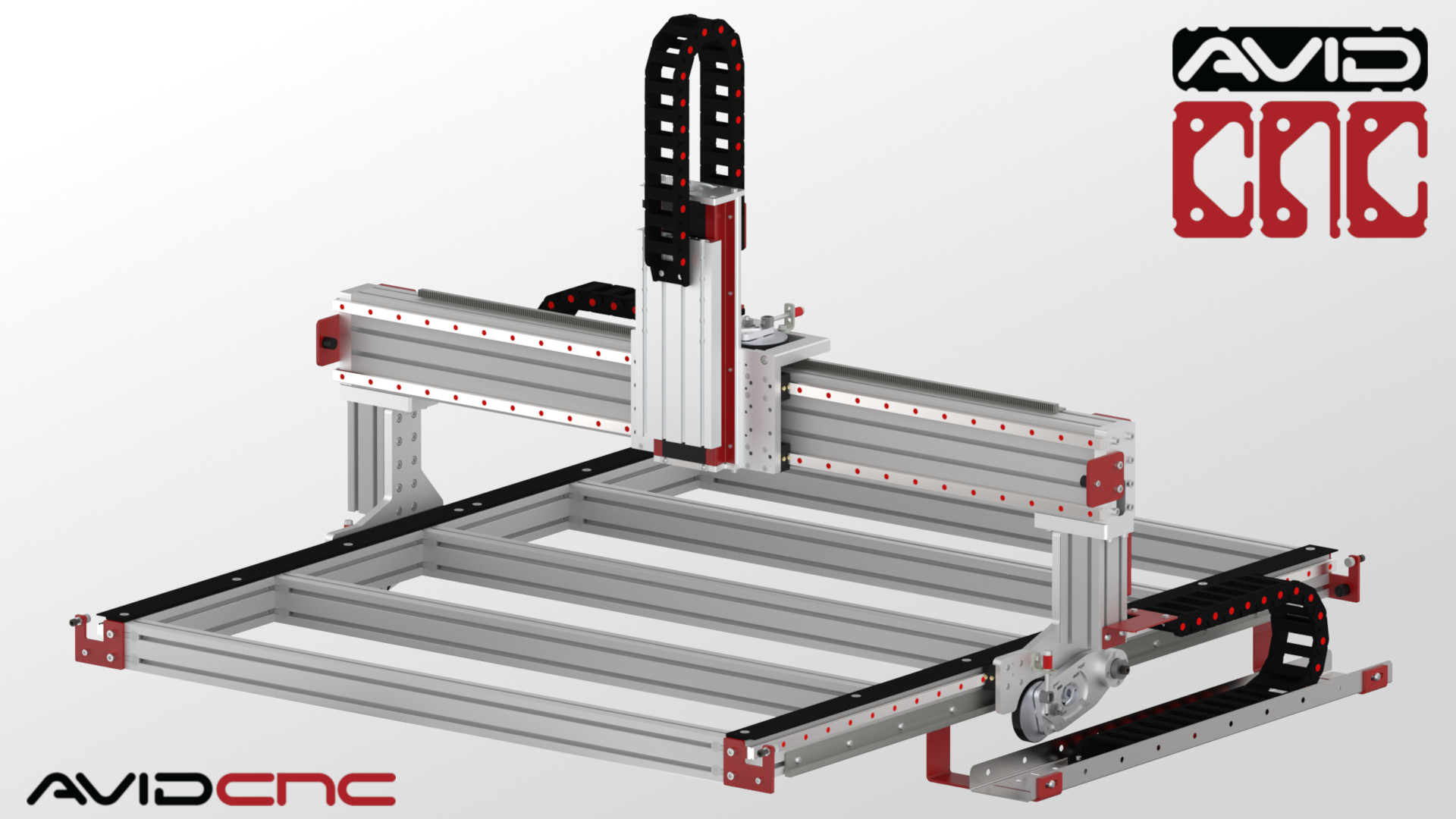 4 x 4ft. cnc router kit rail guide system