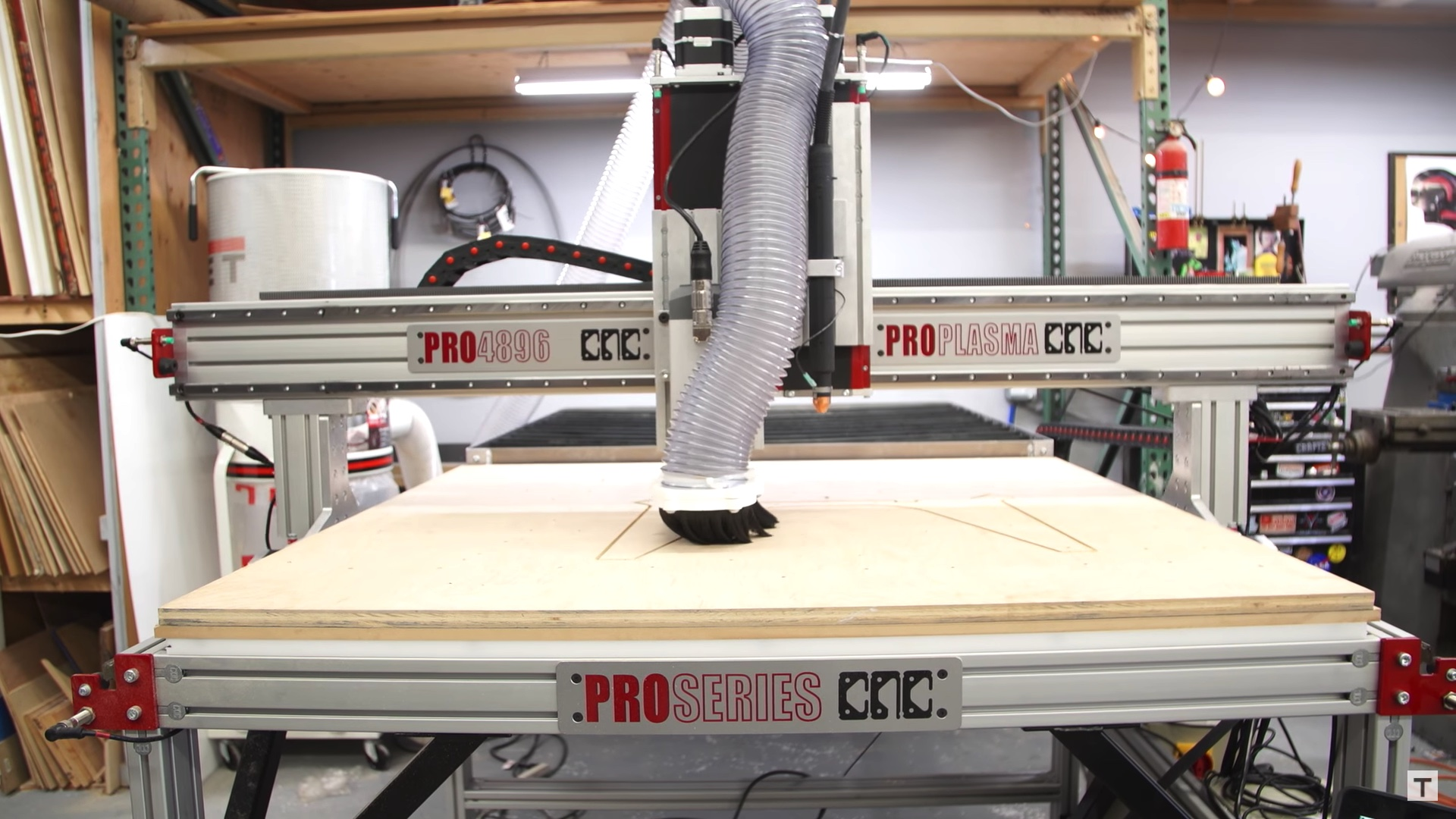 Tested Pro4896 Cnc Router Plasma Combo Machine