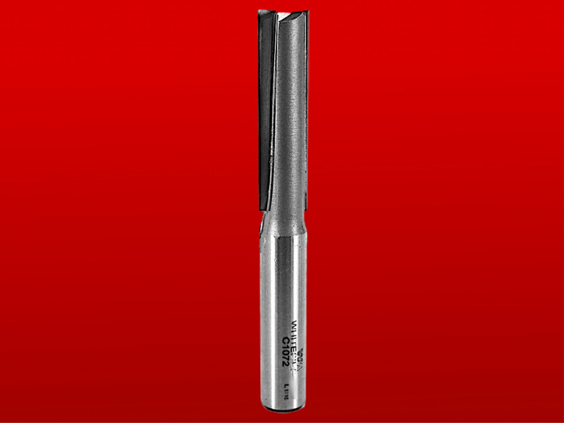 "Whiteside Straight Cut Two Flute CNC Router Bit - Solid Carbide, 1/2"" D, 2"" CL , 1/2"" SH, 4-1/8"" OL, 2 FL"