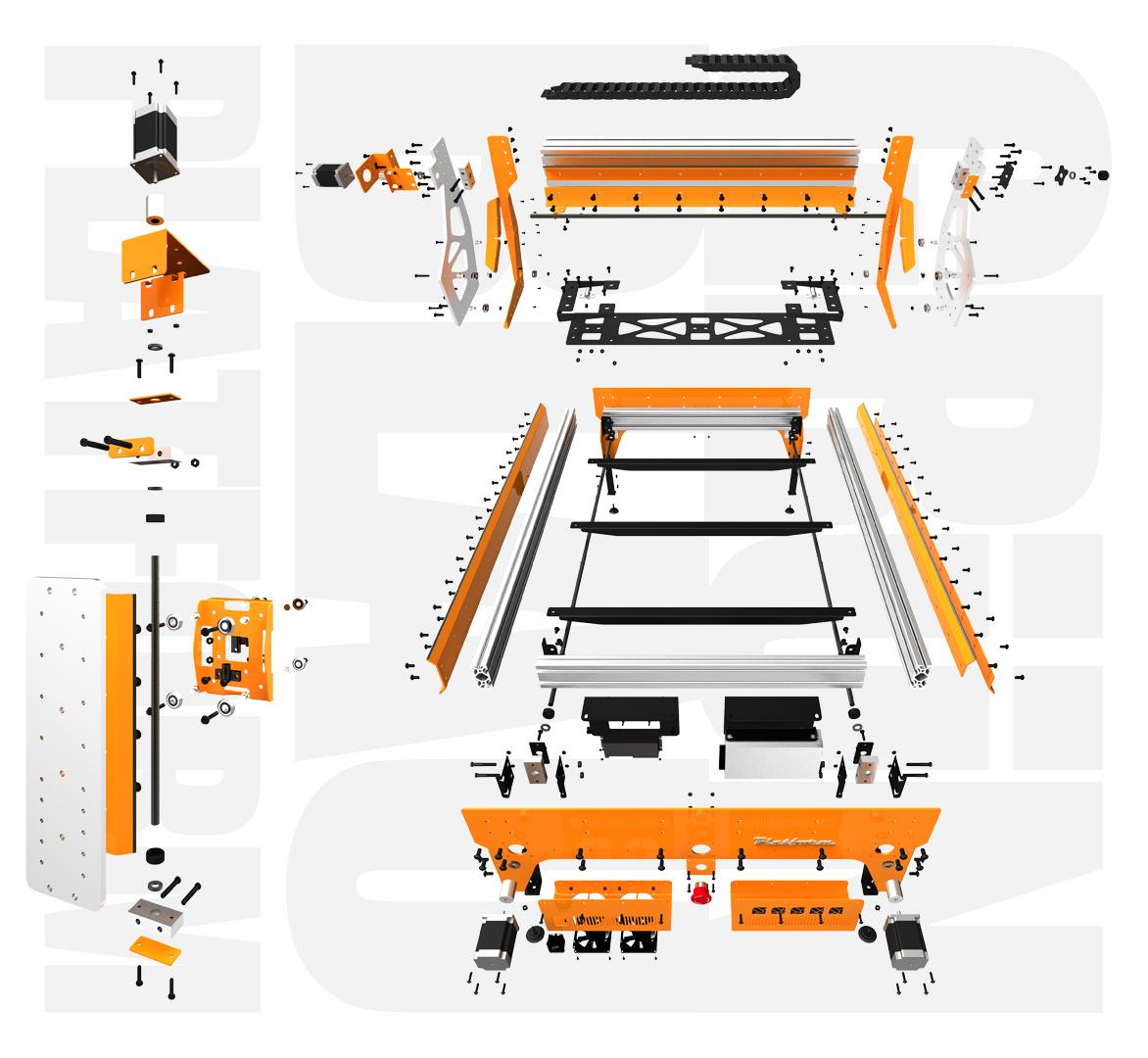 Grunblau Platform Cnc Parts Bundle Avid Cnc Cnc Router